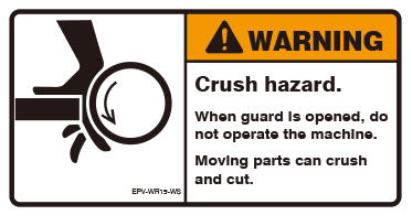 Crush hazard