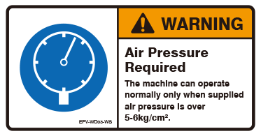 Air Pressure Required