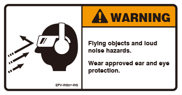 Flying objects and loud noise hazards